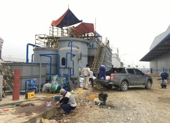 Lắp đặt hệ thống xử lý nước thải KCN Gia Vân tỉnh Ninh Bình.