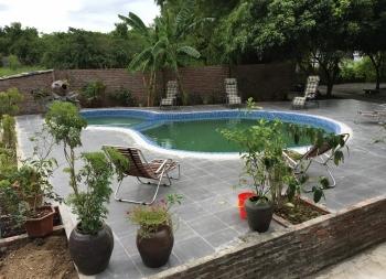 Lắp đặt thiết bị bể bơi Homestay A Hưng
