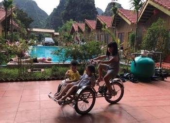 Lắp đặt thiết bị bể bơi Homestay Quốc Khánh Bamboo